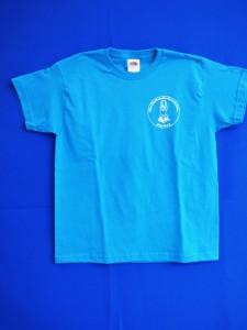 Schul-T-Shirt blau Vorderseite