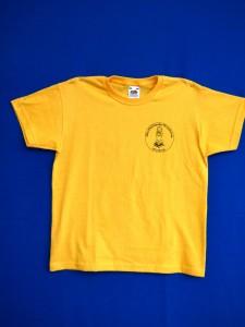 Schul-T-Shirt gelb Vorderseite