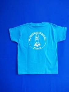Schul-T-Shirt blau Rückseite