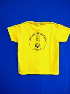 Schul-T-Shirt gelb Rückseite