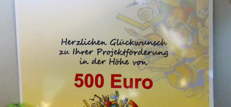 500,-€ für einen Schulgarten