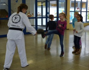 Teakwondo: Hier musste man kräftig zutreten.
