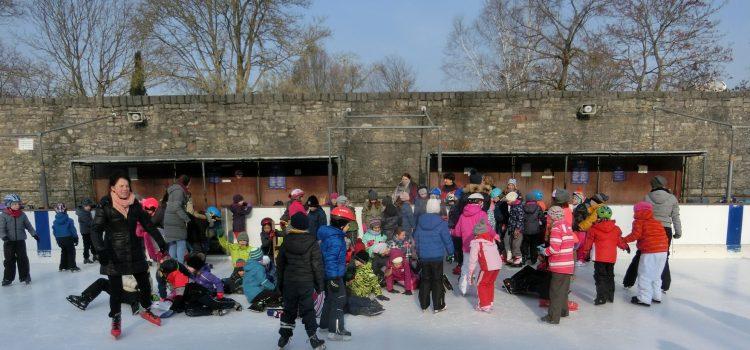 Wintersport auf der Eisbahn