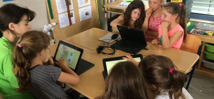 16 Laptops mit Tabletfunktion an unserer Schule